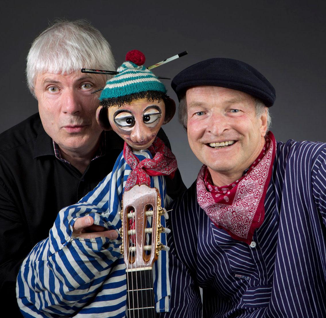 Tom & Dudel ist ein Marionettenstück für Kinder vom Klapp-Theater