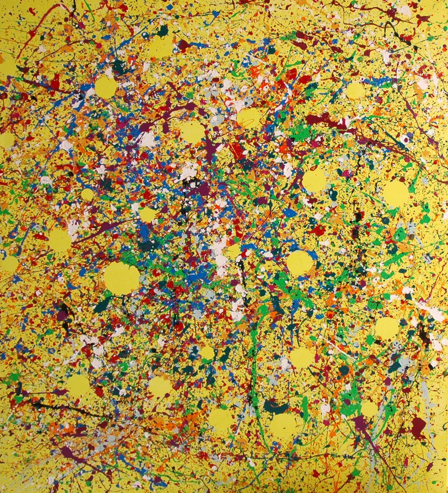 140x160 cm, Acryl auf Leinwand, Kleckstechnik. Mindestpreis: 11.500,00 Euro