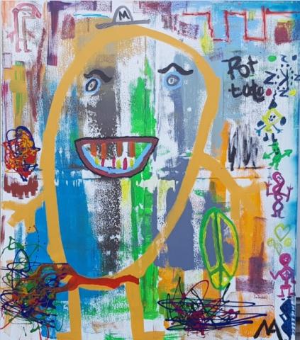 120x140 cm, Acryl auf Leinwand. Mindestpreis 10.400,00 Euro.
