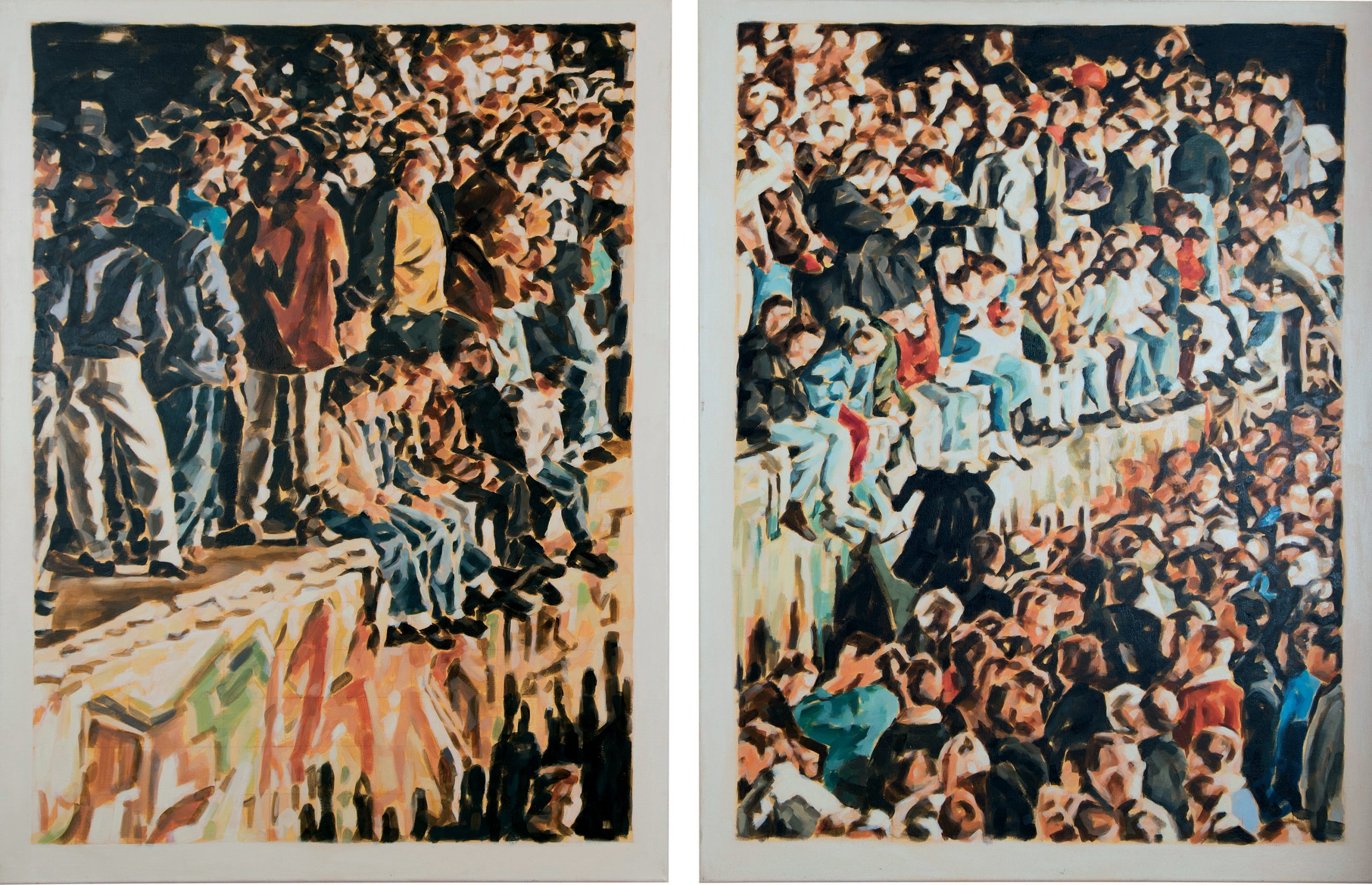 Öl auf Leinwand,  je 110 x 85, 2015 - Diptychon – 6.500 €