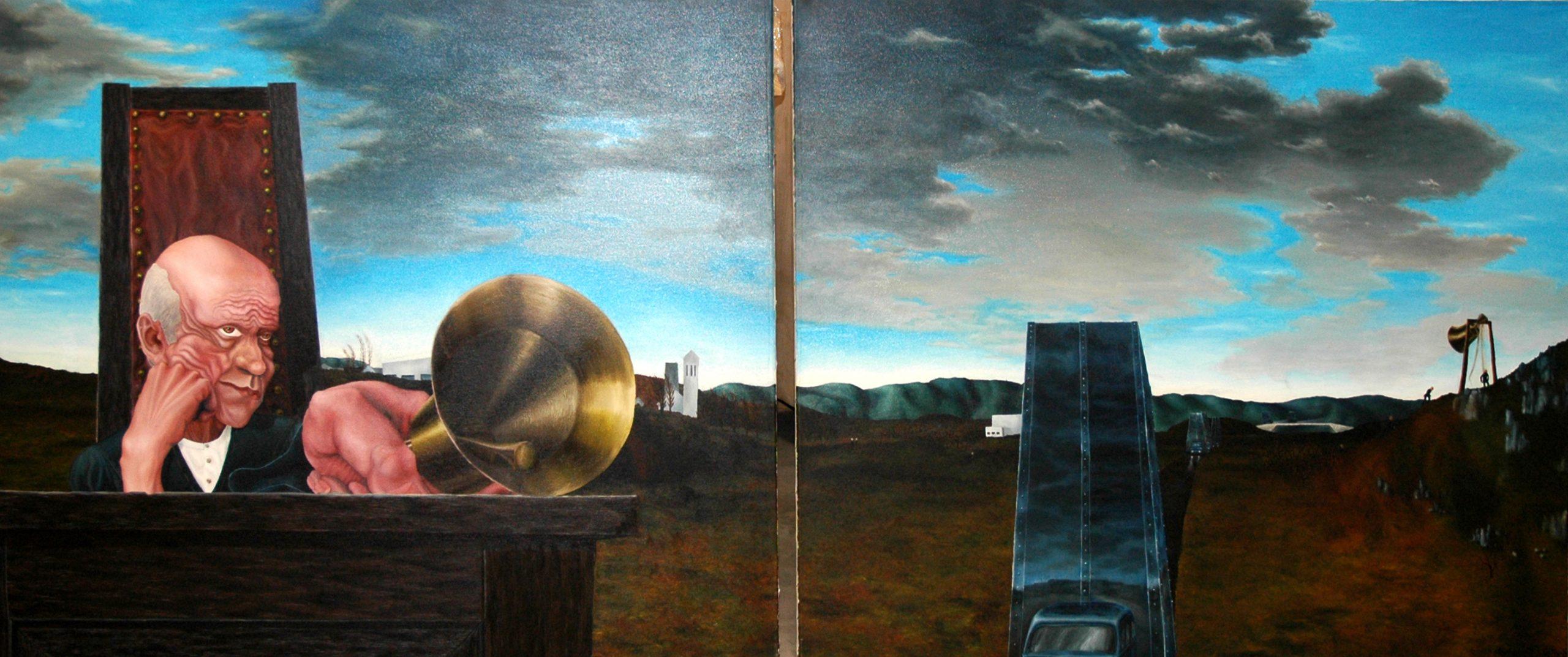 Öl auf Leinwand,   1995, 100 cm x 240 cm 1300 €