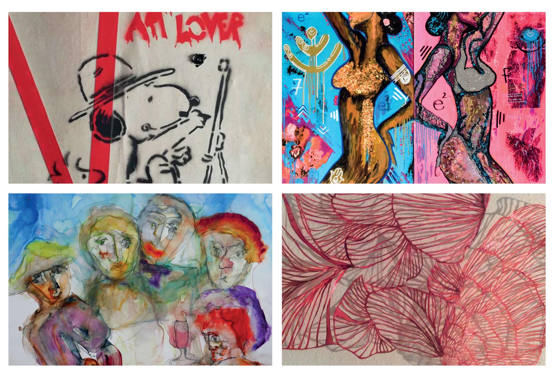 Einzigartige Kunst - Alles außer artig mit MARIE BRUSKE-SCHMACHTENBERG, ELA EKER, ANTJE KRAWIETZ und ANDREA WYCISK in der KULTURKIRCHE OST KÖLN