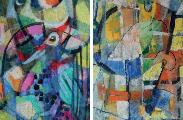 Zwei Gemälde von Marel von Steinling