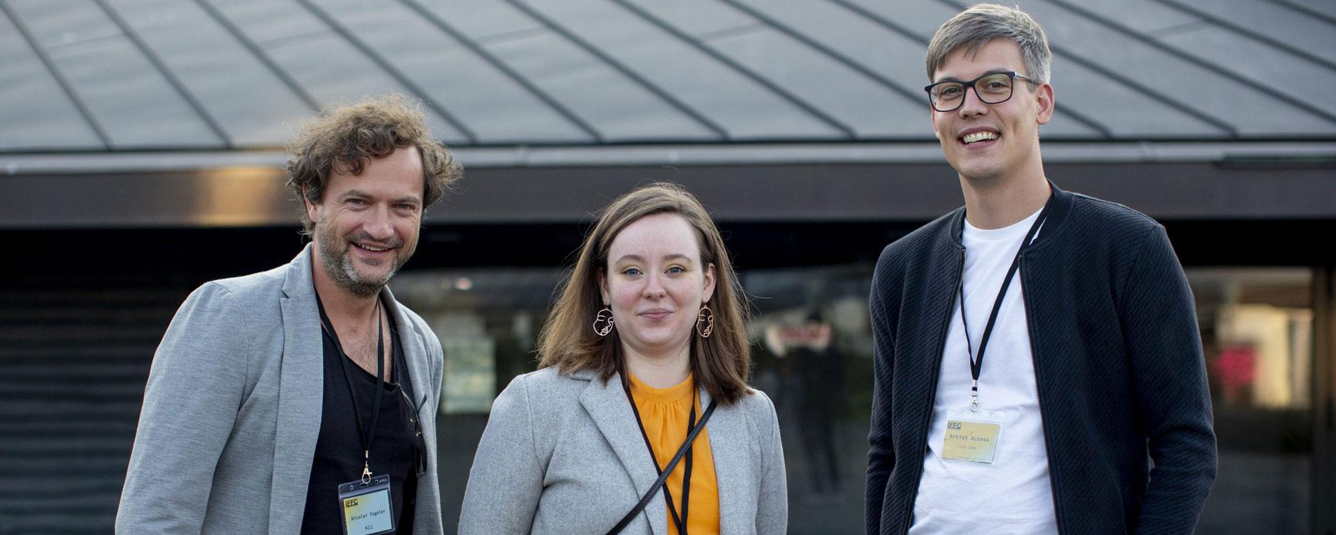 Regisseur Tegeler (l.) beim IFFC in Köln